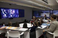 "Marva Barnett's USEM,  Interpreting ""Les Misérables,"" where the class is watching a student's digital media project"